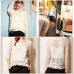 Anthropologie Akemi + Kin Franja Crochet Crop Top